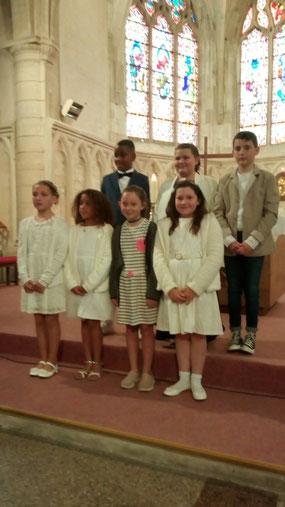 Première communion à Sissonne le 25 juin 2019