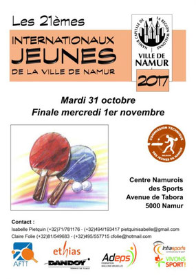 Flyer Internationaux Jeunes de Namur