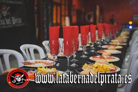 la taberna del pirata Chiclana menú