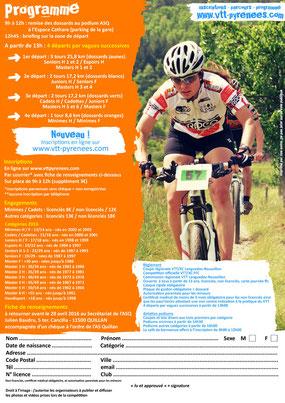 Programme de la Carach Bike 2016