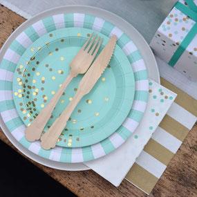 Décoration table de fête anniversaire, vaisselle