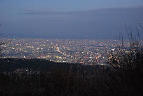 六甲山からの夜景。なかなか見ることができません