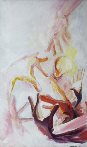 """Ivanov Ivan, """"Falter"""", Öl auf Leinwand, 70  x 42 cm, 2012, gerahmt, 800 €"""