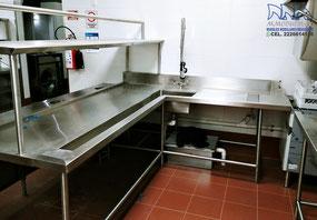 Muebles de acero inoxidable para cocinas industriales, comedores, restaurantes, hospitales