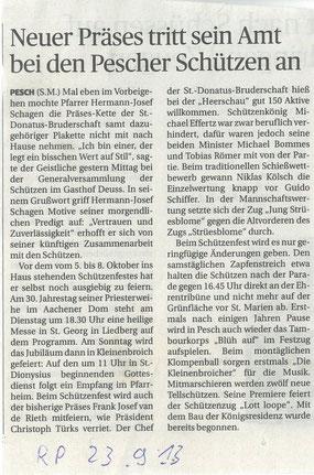 Quelle: Rheinische Post vom 23/09/13