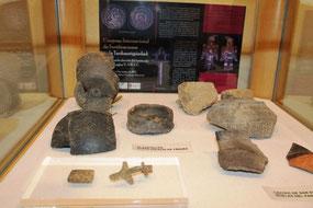 Exposición de materiales arqueológicos en el Museo de Zamora, durante el Congreso Internacional de Fortificaciones