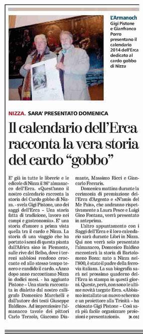 Articolo La Stampa del 31-10-2013