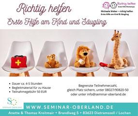 Erste-Hilfe-Kurs am Kind und Säugling Seminar Oberland