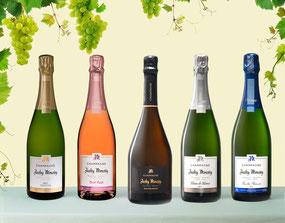 Photo gamme champagne Jacky Moussy Congy Gavaudun