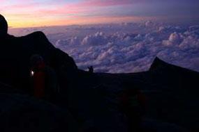 キナバル山頂直下