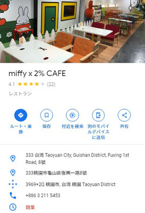 miffy × 2% CAFE 閉業