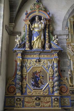 Bild: Altarbild Notre-Dame du Vrai-Secours, Saint-Thégonnec