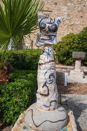 Bild: Die Göttin des Meeres von Joan Miro im Picasso in Antibes