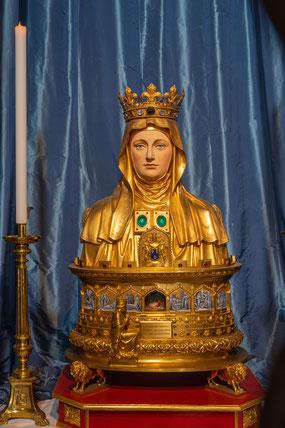 Bild: Reliquienbüste der hl. Martha in Tarascon