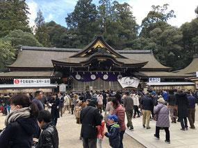 年始は奈良にある日本最古の神社、大神神社へ初詣。