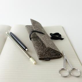 minimaoistisches Stiftmäppchen aus filz 'leonore'