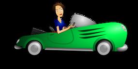 assurance voiture femme brune auto vert comparateur comparatif comparaison accident