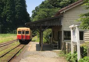 チバニアンへ電車で行く場合、五井駅から小湊鉄道「月崎駅」を目指します