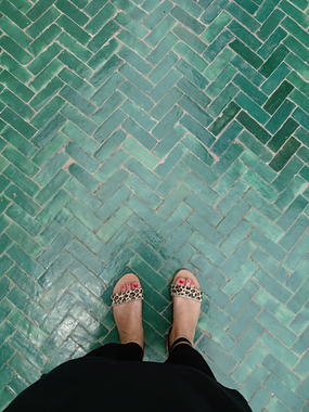 Tile crush in 'Le Jardin Secret'