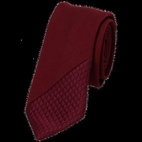 Rode stropdas Senor Guapo colour blocking smal modern