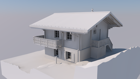 Chalet a Bellwald (ArchiCAD)