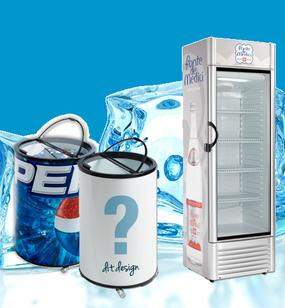 diverse Kühlmittel, Kühlboxen und Flaschen Kühlschrank, mit Logo ausstattbar