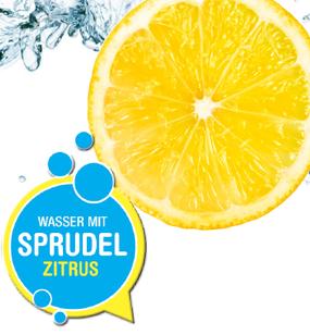 Wasser mit Sprudel und Zitrusgeschmack