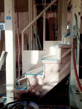 アイアン手すりを作る前の、階段採寸はきっちりと!