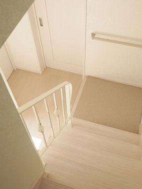 階段手すり(上から)