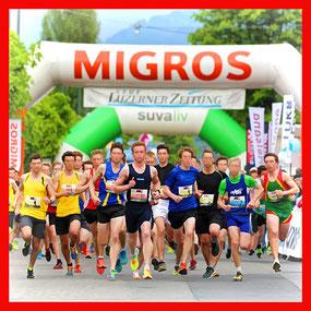Migros Sponsoring-Aktivitäten am Luzerner Stadtlauf