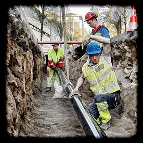 ewl Luzern: Wasserleitungsbau und -unterhalt