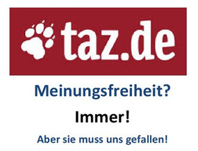 taz.de und die Meinungsfreiheit.