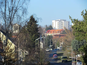 Blick nach Westen in die Waldecker Straße
