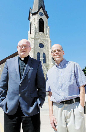 Father Phillip Kruse of St. Joseph's Parish, along with Capital Campaign Manager and 1979 Marquette graduate Chris Lampe are encouraging the community to get involved.