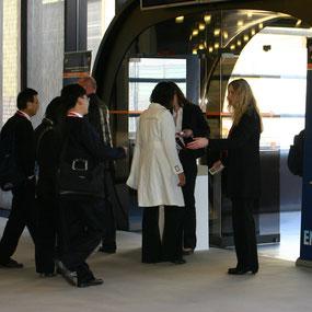 Messeregistrierung Besuchererfassung Veranstaltungssysteme Statistik Messe Kongress Ausweise Druck Registrierung e-Ticket Zutrittskontrolle Einlasskontrolle Scanner Barcode