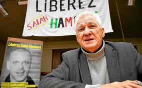 Jean-Claude Lefort, beau-père de Salah Hamouri, a fait étape à Plourin-les-Morlaix pour informer le public sur les conditions de détention de l'avocat franco-palestinien et recueillir des signatures de soutien.