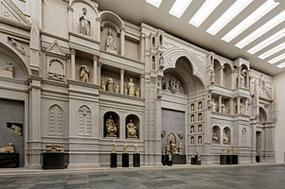 Modello dell'antica facciata del Duomo di Firenze di Arnolfo di Cambio. Museo dell'Opera del duomo, foto Antonio Quattrone