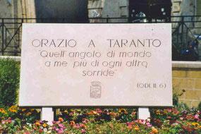Taranto - Tafel des Horaz