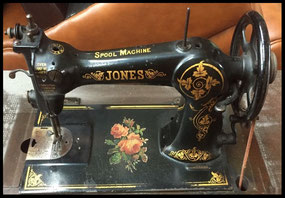 JONES SPOOL MACHINE ............. New Bed Decal