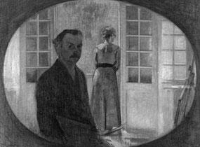 ©Vilhelm Hammershøi (Autoportrait de l'artiste et de sa femme)