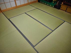 日野市 畳表替え 鮫小紋のたたみ縁で粋な和室