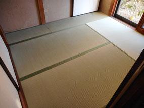 熊本県産の厚地畳で新畳 障子とふすまも一緒に承りました