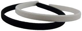 Haarreif schwarz & weiß zum beziehen mit eigenem Stoff, ca. 1 cm Breite