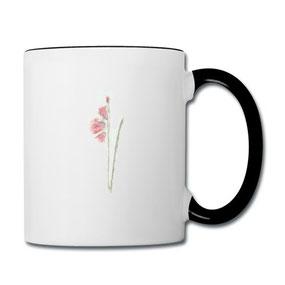 Tasse Gladiolen aus dem Kaffeetassen-Online-Shop von Syelle Beutnagel