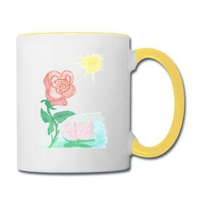 Tasse Rosen aus dem Online-Shop für Kaffeetassen von Syelle Beutnagel