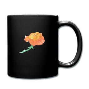 Tasse keine Rose ohne Dornen aus dem Online-Shop für Kaffeetassen von Syelle Beutnagel