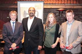 Virgilio Benoit und Alexandra Müller bedankten sich im Namen aller Azubis für die lehrreichen Jahre bei ihren Lehrern Christian Lindhorst und Torsten Brunckhorst