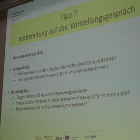 Powerpoint-Präsentation zur Vorbereitung auf das Vorstellungsgespräch