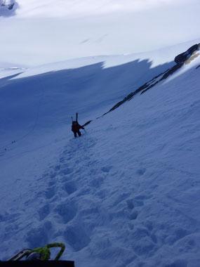 Fieschersattel, Fiescherhorn, Jungfraugebiet, Skitouren, Schweiz