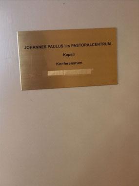 """KPN liegt im Pastoralzentrum """"Johannes Paulus II"""""""